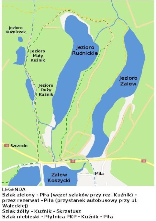 mapa_szlaki_Rezerwat Kuźnik